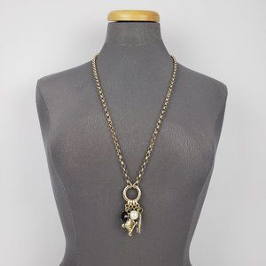 Banana Republic Gold Key Long Necklace